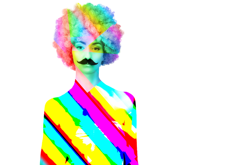 Colorful  women / female/ adult / girl with magnificent hair  on white background